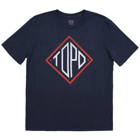 Topo Designs Diamond T-shirt Herrer, blå